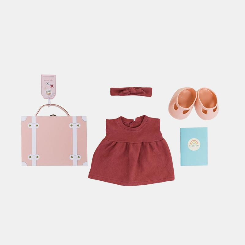US stockist of Olli Ella Dinkum Dolls Travel Togs - Rose