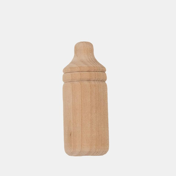 US stockist of Olli Ella's Dinkum Doll Baby Bottle.  made from unbleached pinewood.