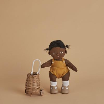 US stockist of Olli Ella hand woven natural rattan doll luggy