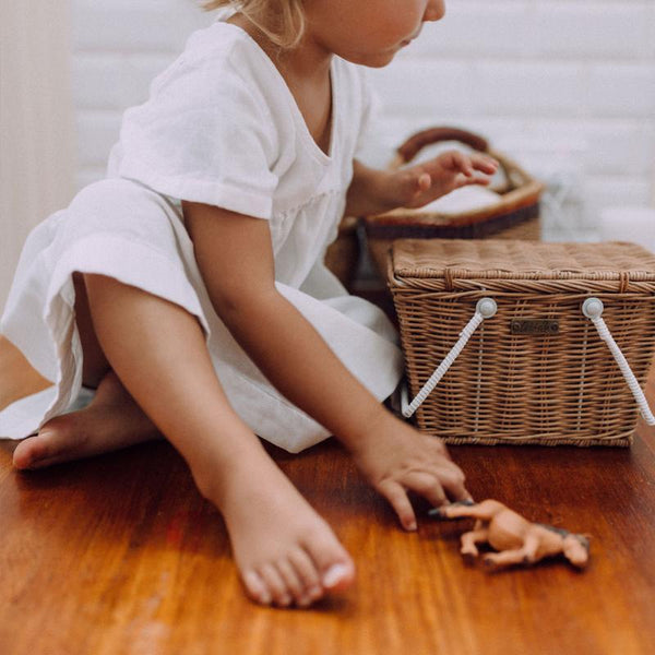 US stockist of Olli Ella handmade rattan natural piki basket