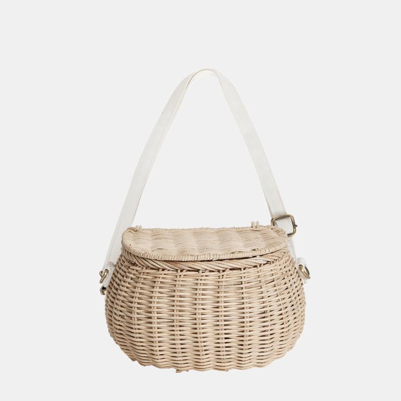 US stockist of Olli Ella handwoven Mini Chari basket in straw