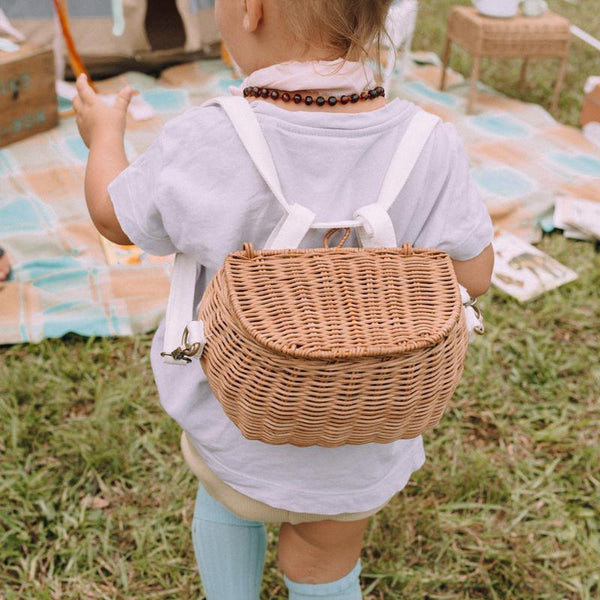 US stockist of Olli Ella handwoven Mini Chari natural basket
