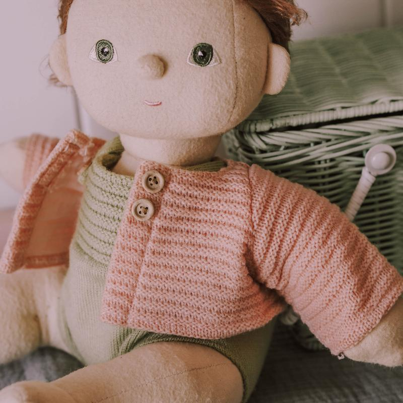 US stockist of Olli Ella Dinkum Doll Rose Pink Cardigan