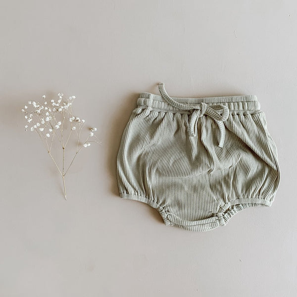 US stockist of Two Darlings ribbed cotton olive bloomers