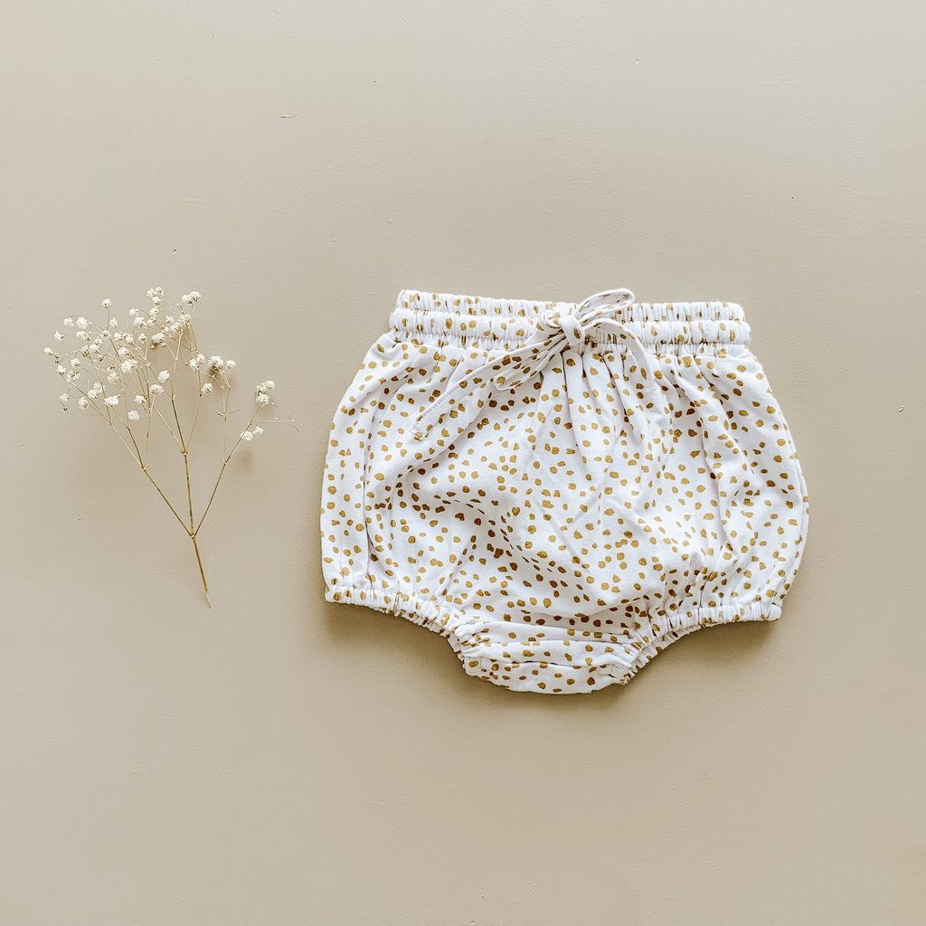 US stockist of Two Darlings ribbed cotton golden speckle bloomers