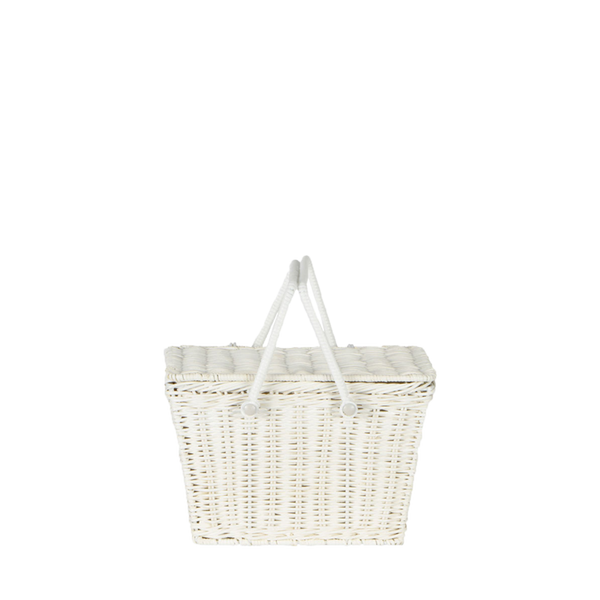 US stockist of Olli Ella handmade rattan white piki basket
