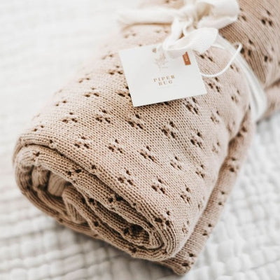 Heritage Cotton Blanket - Caramel