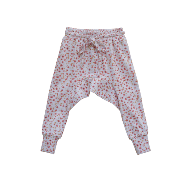 US stockist of Two Darlings posey floral stretch cotton harem jogger pants