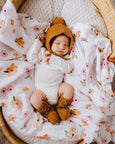 US stockist of Snuggle Hunny Kids bronze merino wool bonnet and bootie set