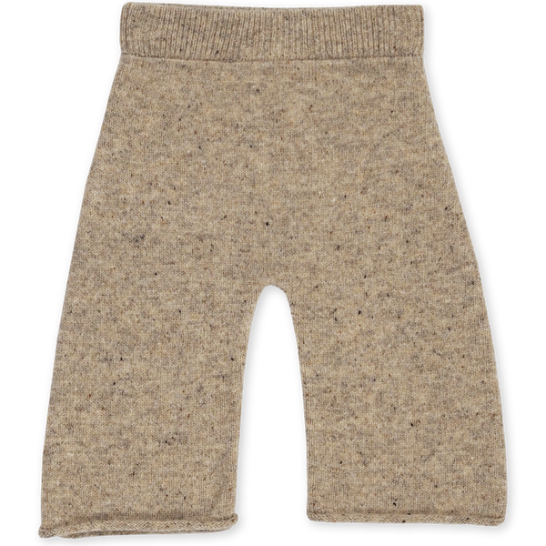 US stockist of Grown Clothing's gender neutral stone speckled merino pants. Made from extra fine Australian merino wool.  Has a wide leg and slightly cropped hem with rolled hem.