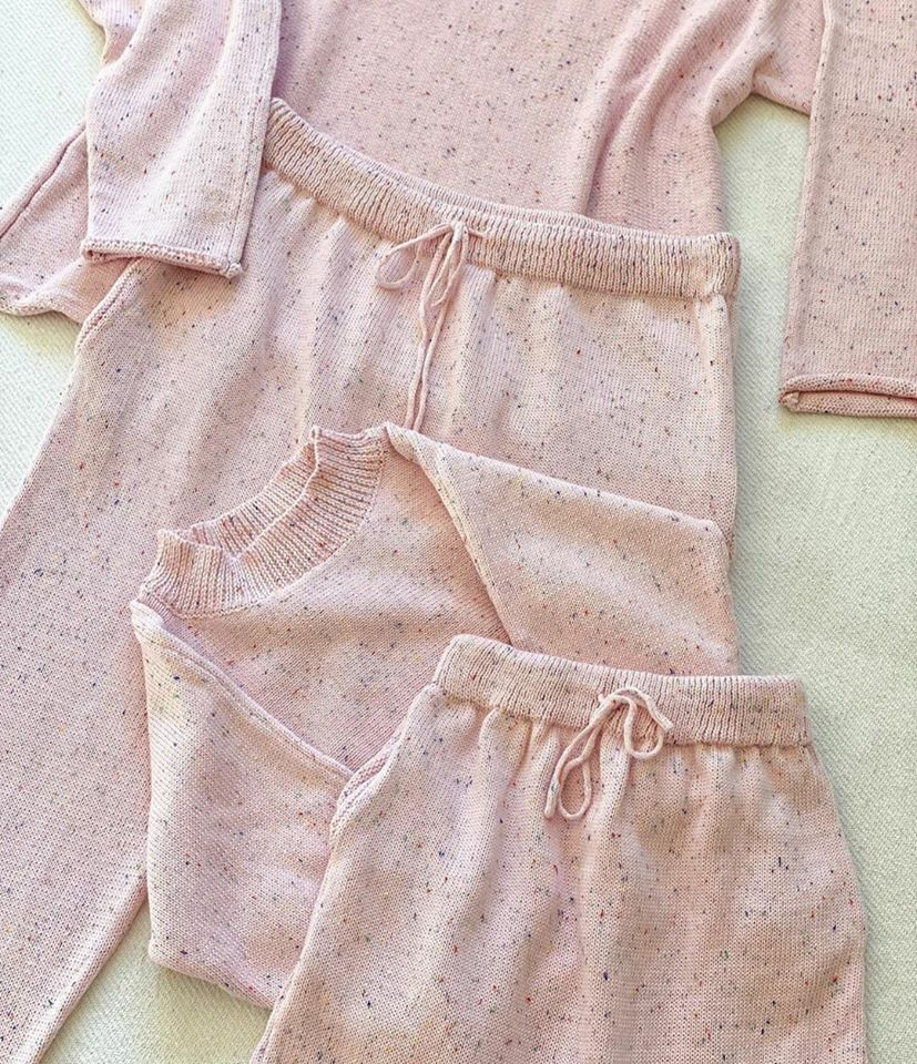 Mini Knit Sweater - Light Pink Sprinkles