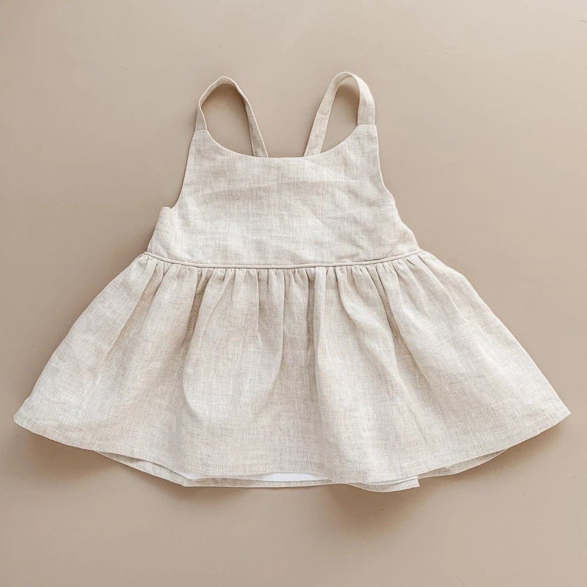 US stockist of Two Darlings Natural Linen Peplum Top