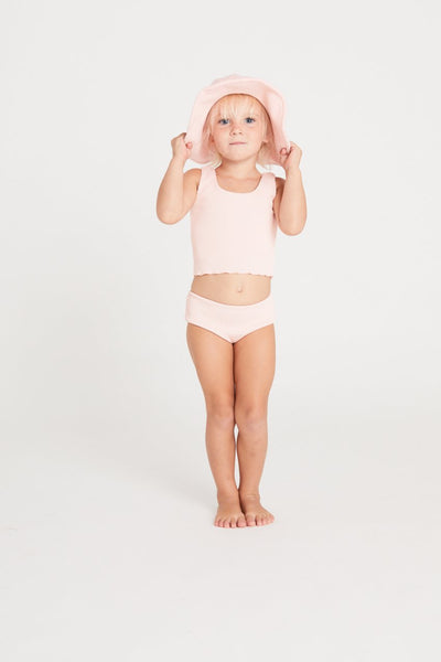 US stockist of Zulu & Zephyr Mini Mermaid Edge Blush Pink Tank Bikini
