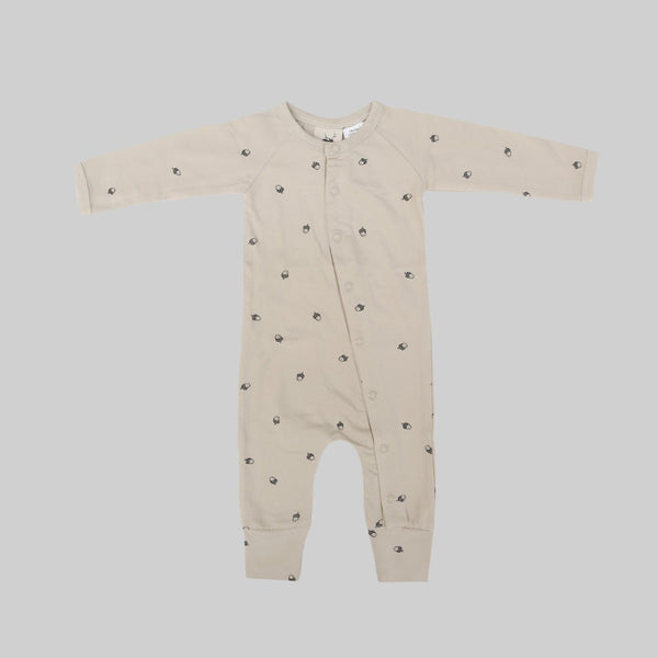 US stockist of Buck & Baa acorn organic cotton full romper