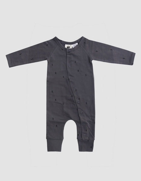 US stockist of Buck & Baa organic cotton smoke full romper
