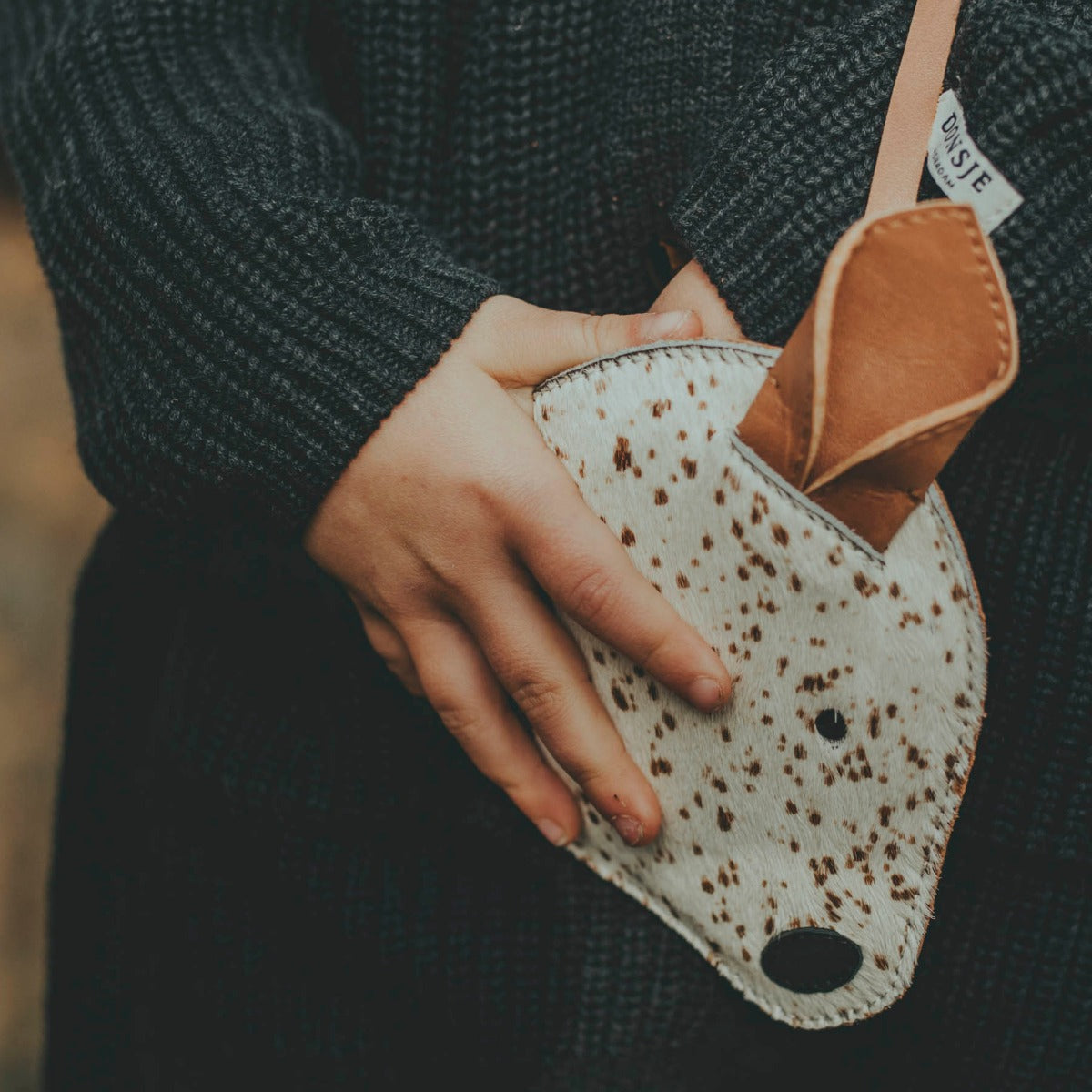 US stockist of Donsje's Bambi Britta Exclusive Purse. Handmade from premium leather with an adjustable strap and zip compartment.