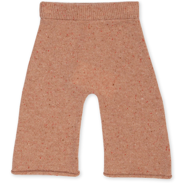 US stockist of Grown Clothing's gender neutral coral speckled merino pants. Made from extra fine Australian merino wool.  Has a wide leg and slightly cropped hem with rolled hem.