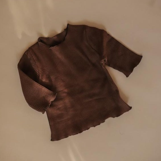 US stockist of Luca the Label chocolate ribbed top
