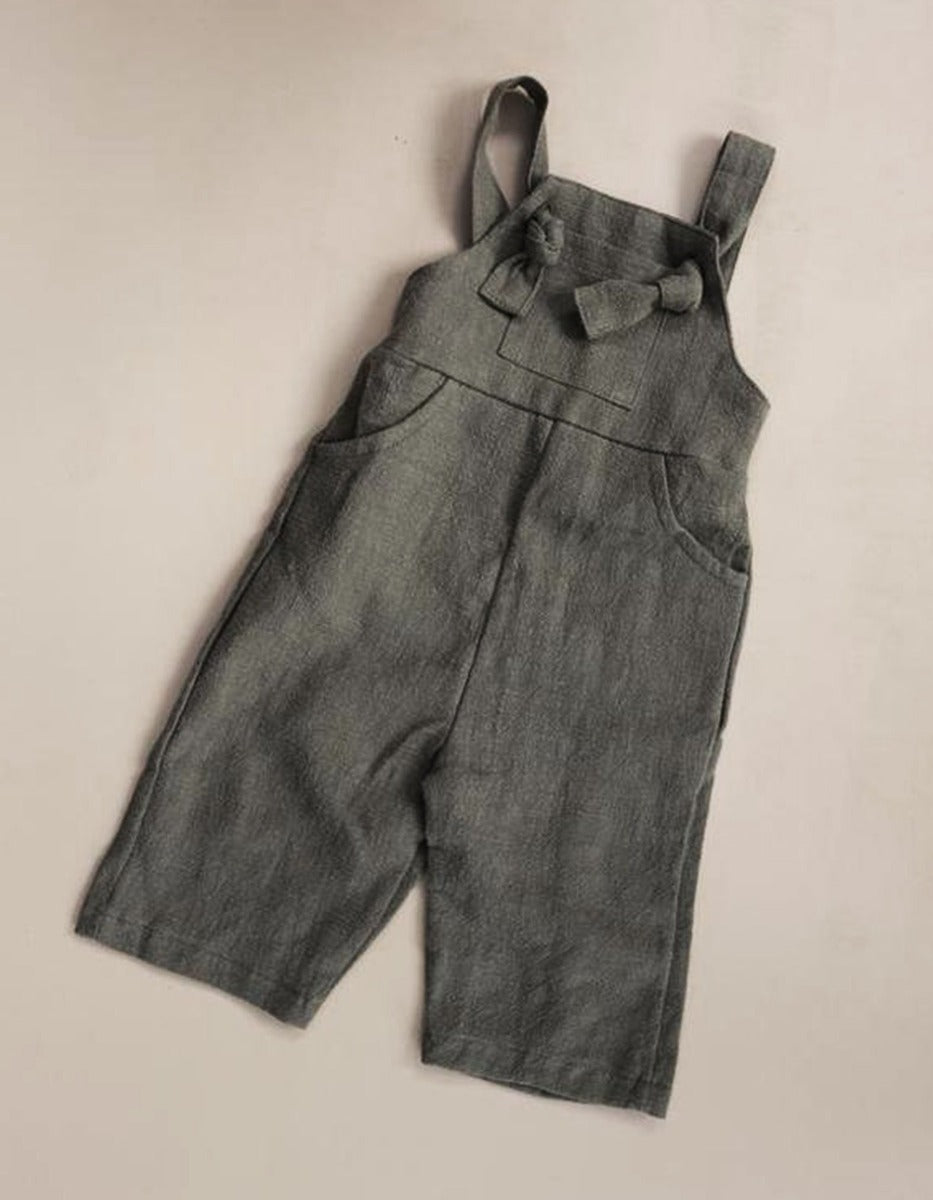 US stockist of Luca the Label pioneer olive linen overalls