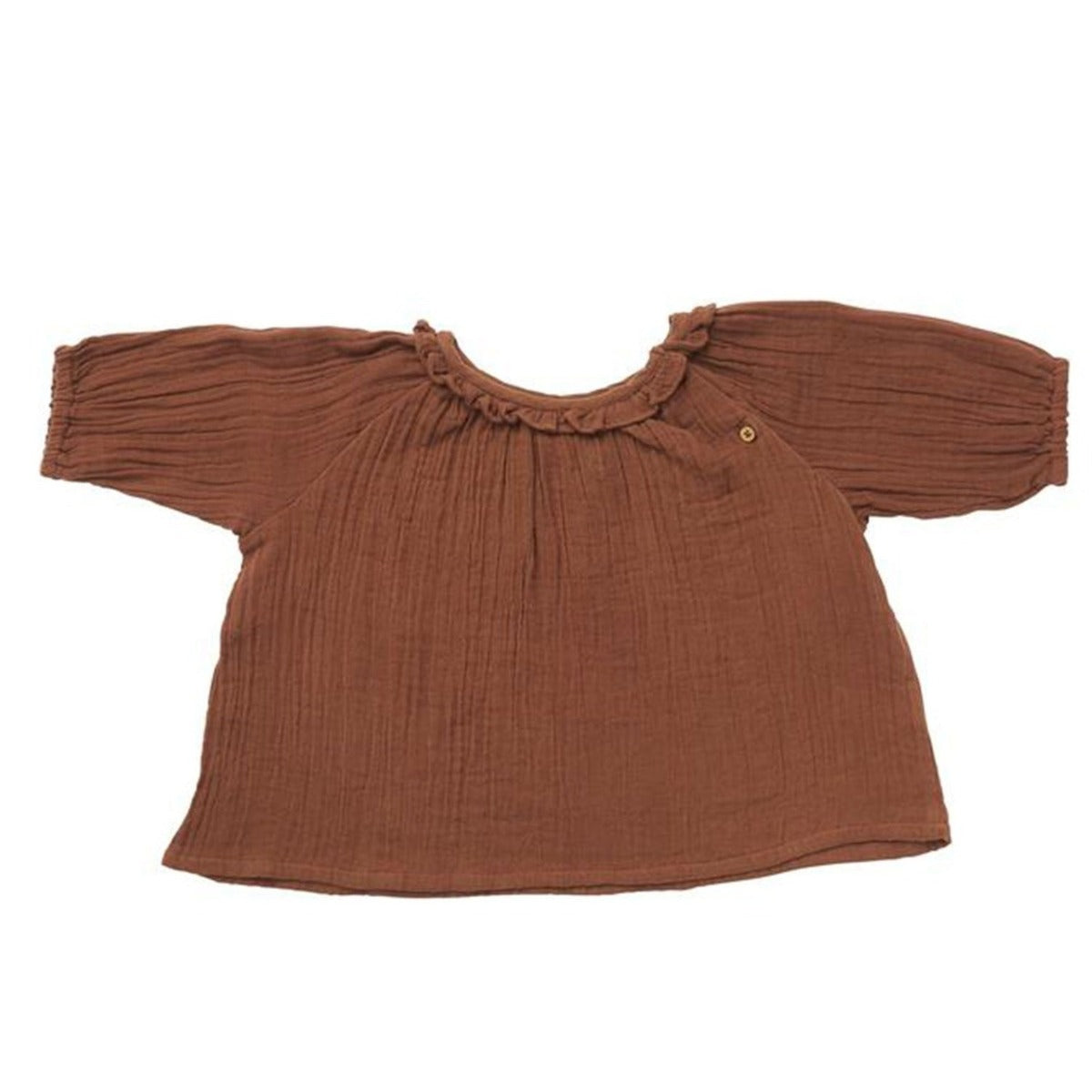 US stockist of Ruffets & Co friar brown Pippa smock top