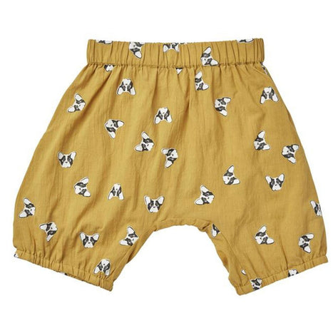 US Stockist of Ruffets & Co Mustard Yellow French Bulldog Cotton Bloomers