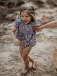 US stockist or Ruffets & Co floral Willow romper