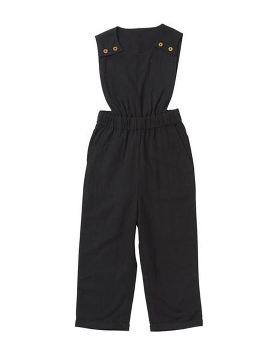 US stockist of Ruffets & Co black Penny overalls
