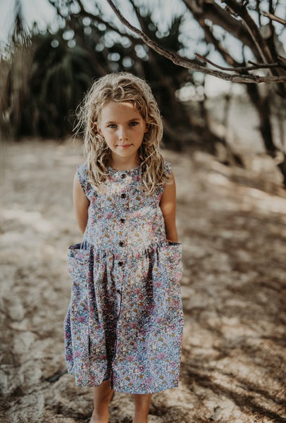 US stockist of Ruffets & Co floral Miranda dress