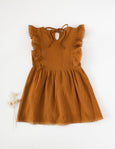 US stockist of Karibou Kids Little Angel Cotton & Lace Dress in Antique Gold.