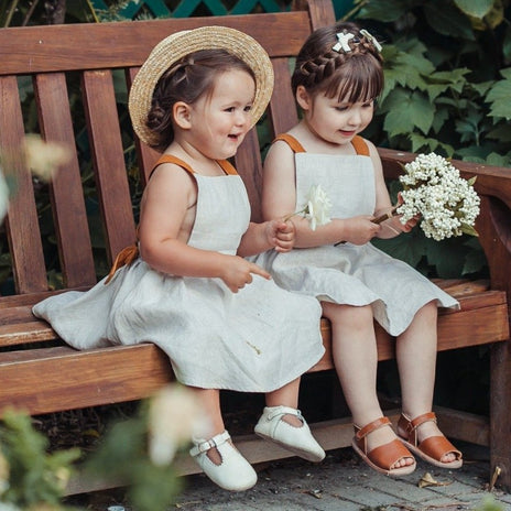US stockist of Karibou Kids Karolina linen dress