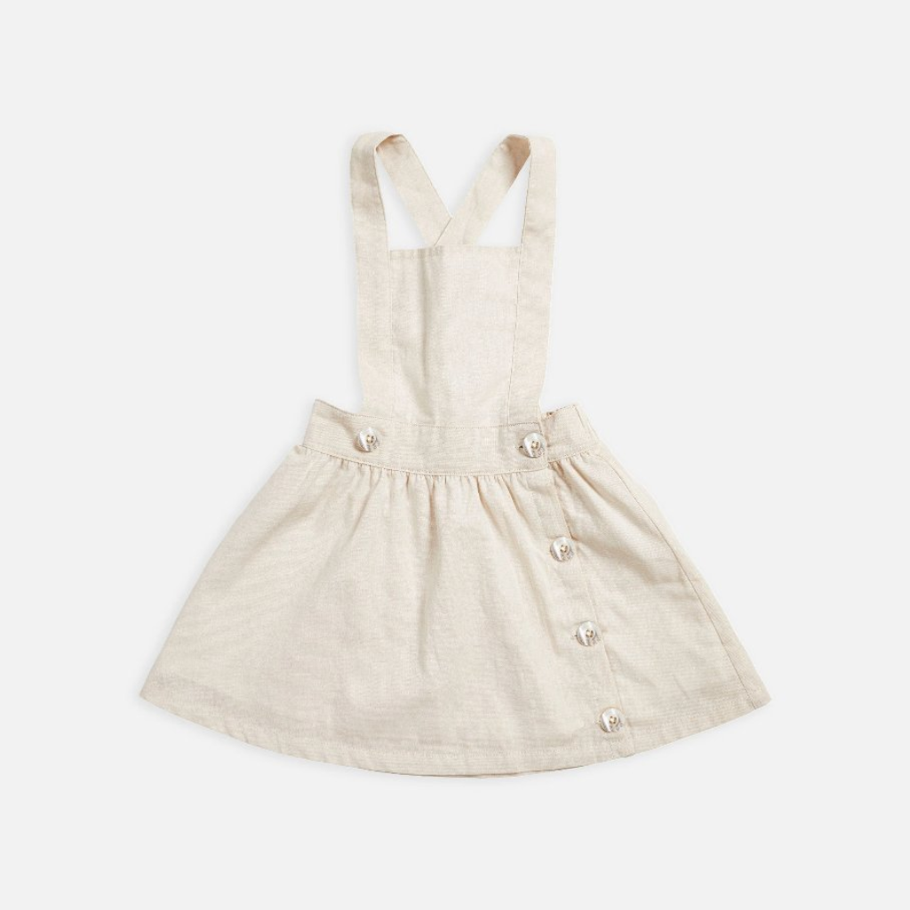 Pinafore Dress - Natural Linen