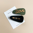 US stockist of Grech & Co's Green single Love Snap Hair Clip