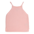 US stockist of Bonnie & Harlo's peach knit top.