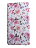 Rose Print Crib Sheet