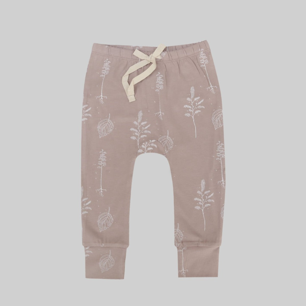 US stockist of Buck & Baa organic cotton shadow pink leggings