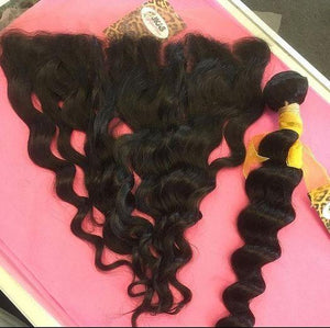 "Loose Deep Wave| 13x4 HD Lace Frontal 16""-22"" - JKAs Effulgent Hair"