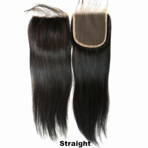 JKAs Effulgent Hair Human Hair Straight 4x4 Lace Closures