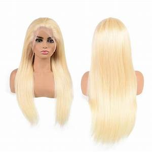 "130% Density 613 (Platinum Blonde) Lace Frontal Wigs 12""-28"""