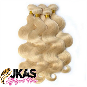 613 BLONDE (3)BUNDLE DEALS Straight| Body-Wave| 100% UNPROCESSED HUMAN VIRGIN HAIR - JKAs Effulgent Hair LLC