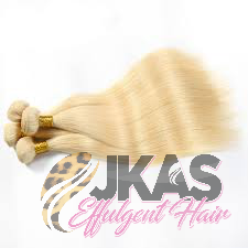 JKAs Effulgent Hair Platinum Blonde Straight Human Hair bundles