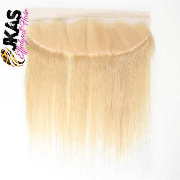"JKAs Effulgent Hair Platinum Blonde Straight Human Hair 13""x4"" Lace Fontal"