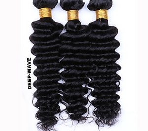 LOOSE-WAVE | DEEP-WAVE|100% UNPROCESSED HUMAN VIRGIN HAIR (3) BUNDLE DEALS - JKAs Effulgent Hair LLC