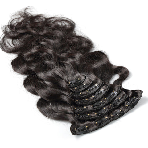 Body Wave|  9A Natural Color| 160g clip ins
