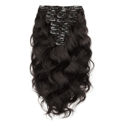Body Wave|  10A Natural Color| 120g clip ins