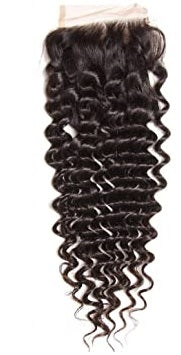 Deep Wave| 4x4 | 100% UNPROCESSED HUMAN HAIR BLEACHED KNOT LACE CLOSURES - JKAs Effulgent Hair LLC
