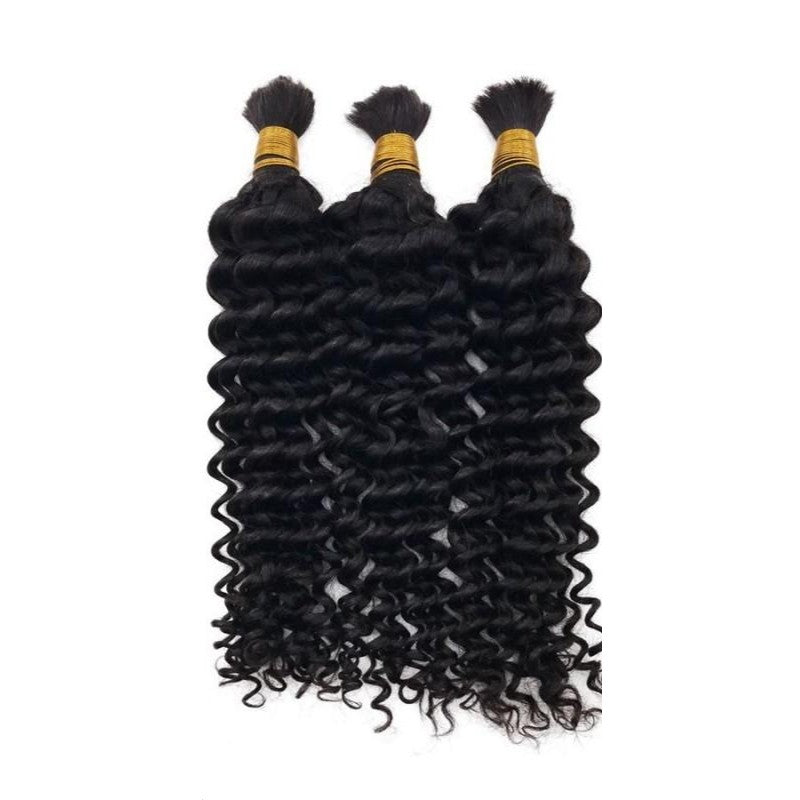 (2)BUNDLE DEALS |Deep Wave| 100% UNPROCESSED HUMAN VIRGIN BRAIDING HAIR