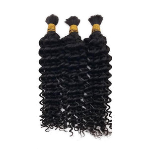 (2)BUNDLE DEALS |Deep Wave| 100% UNPROCESSED HUMAN VIRGIN BRAIDING HAIR - JKAs Effulgent Hair LLC