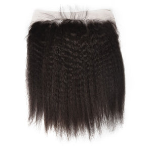 "Kinky Straight| 13x4 HD Lace Frontal| 16""-22"" - JKAs Effulgent Hair"