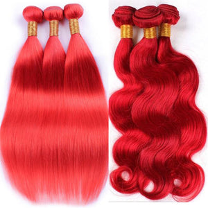 RED BUNDLES| Straight| Body-Wave| 100% UNPROCESSED HUMAN VIRGIN HAIR
