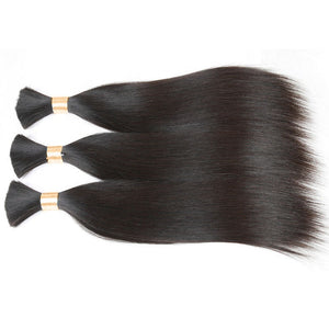 (2)BUNDLE DEALS |Straight | 100% UNPROCESSED HUMAN VIRGIN BRAIDING HAIR - JKAs Effulgent Hair LLC